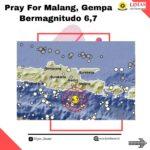 Pray For Malang, Gempa Bermagnitudo 6,7 SR